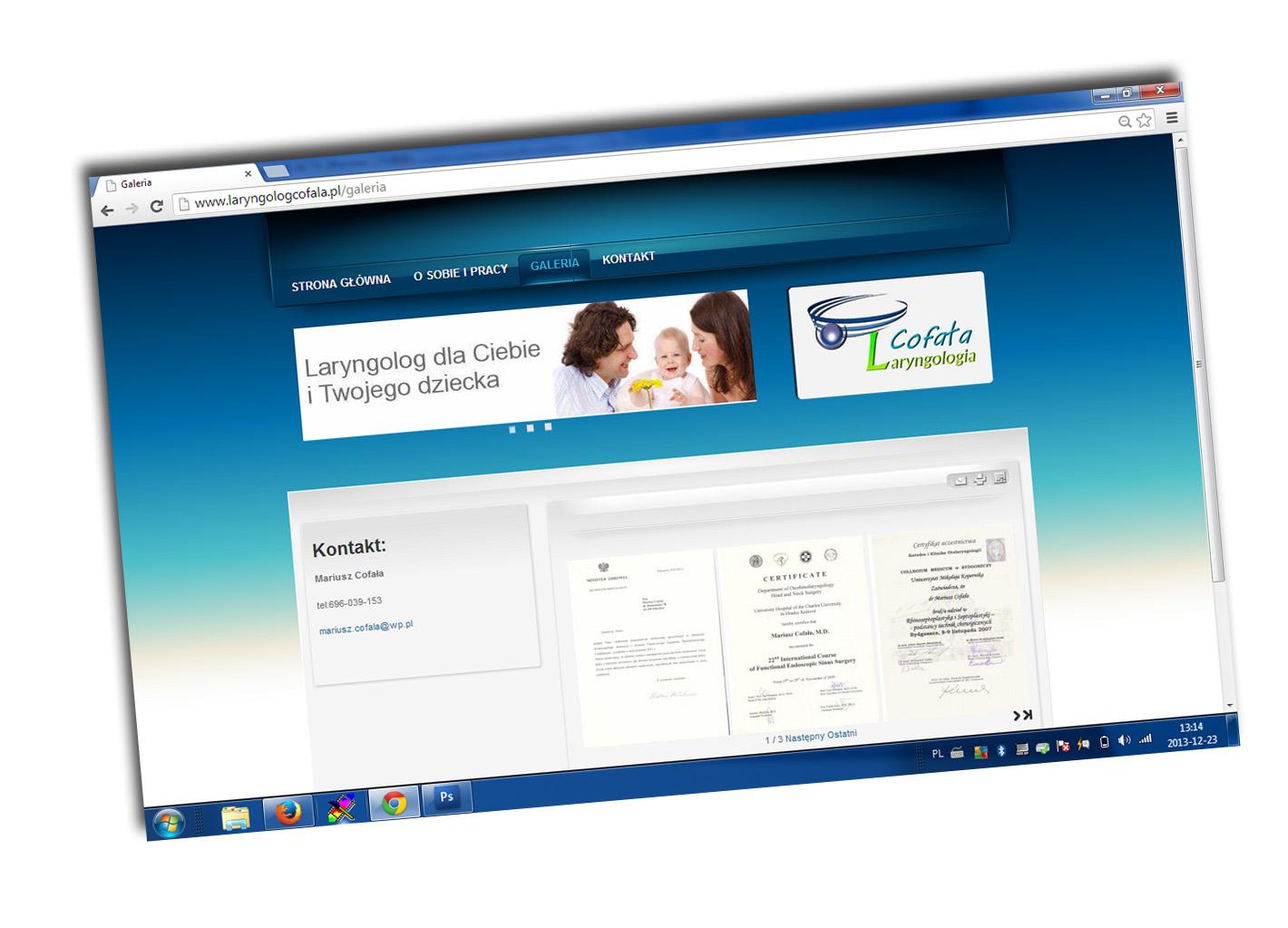 Przykładowa realizacja prostej strony www CMS na potrzeby prywatnej praktyki lekarskiej
